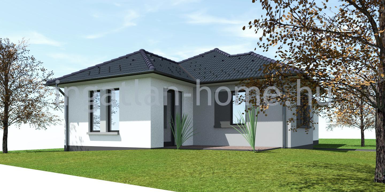 Erdőkertes aszfaltos utcájában saroktelken eladó egyszintes, remek elosztású önálló új építésű családi ház!