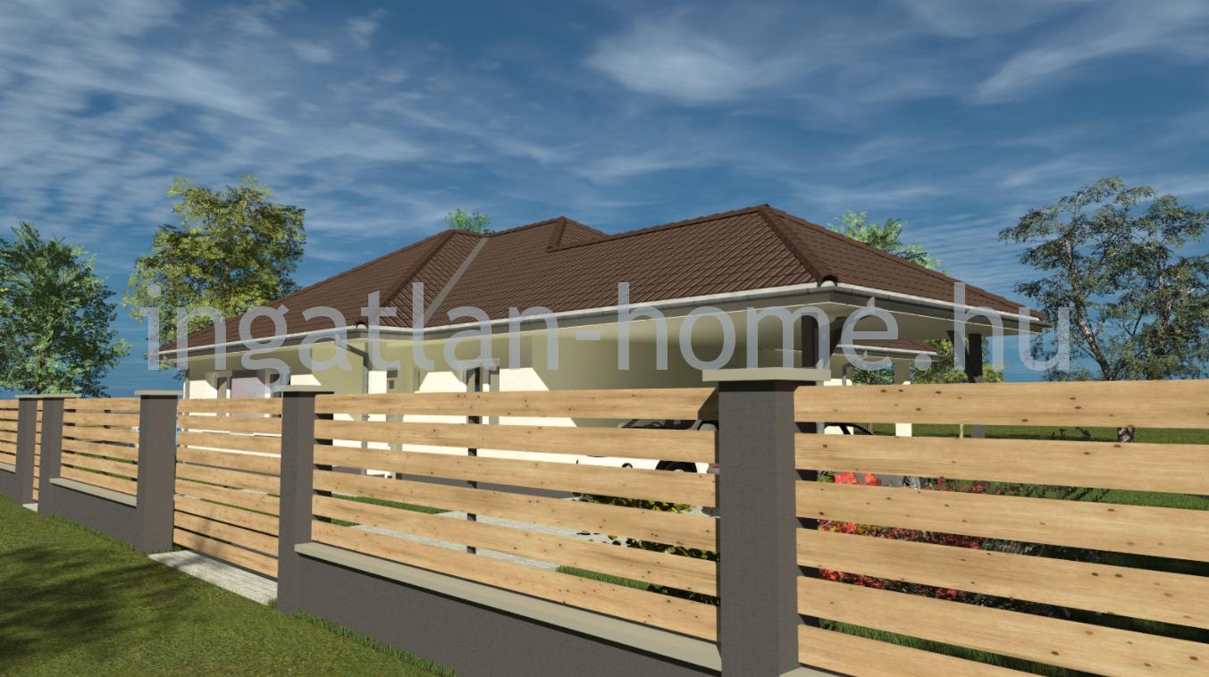 Vácrátót újonnan épülő lakóparkjában eladó új építésű önálló családi ház, hőszivattyús fűtéssel