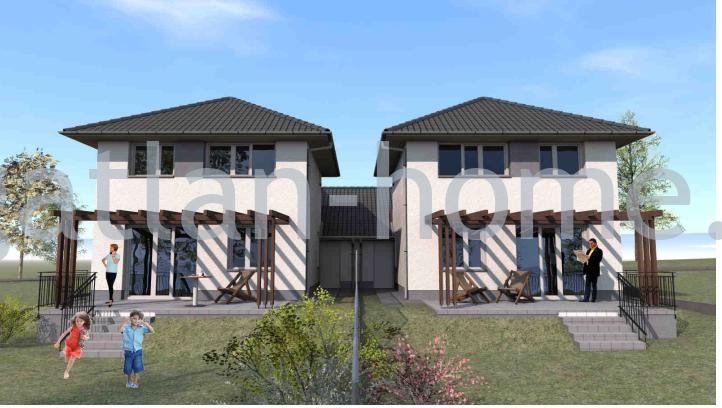 Őrbottyán aszfaltos rendezett csendes utcájában eladó belső kétszintes 145nm-es 5-szobás elrendezésű családi házak!