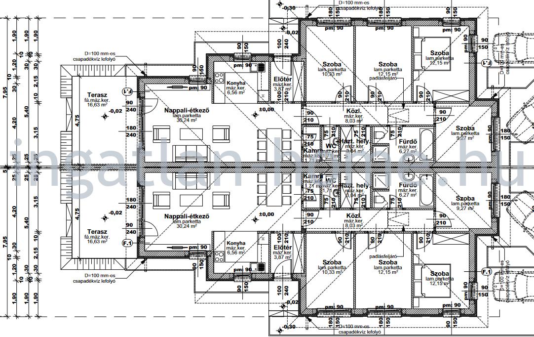 Eladó Fót újszerű környezetében új építésű 5-szobás ikerházak!