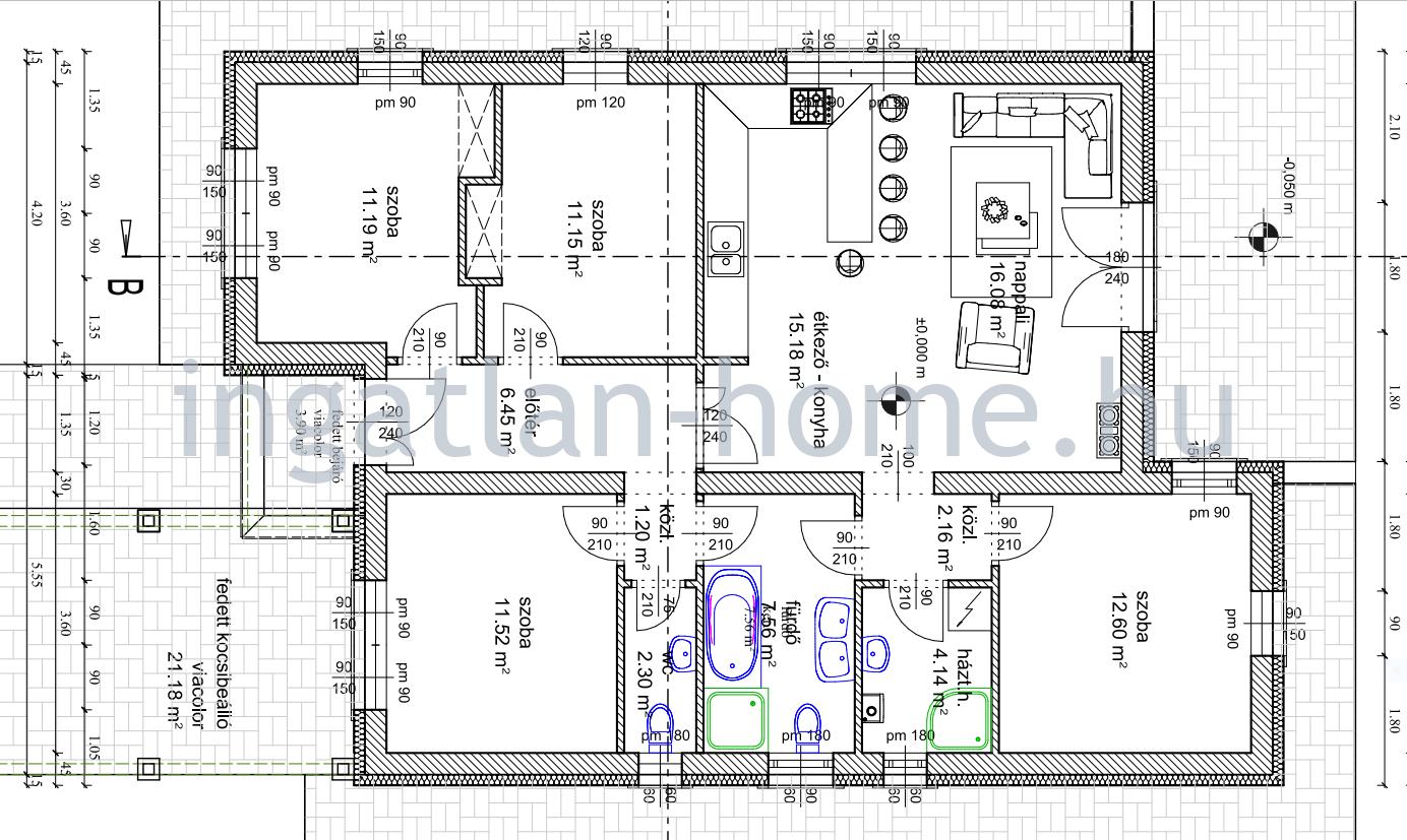 Erdőkertes panorámás utcájában eladó egyszintes önálló 5-szobás elosztású családi ház!