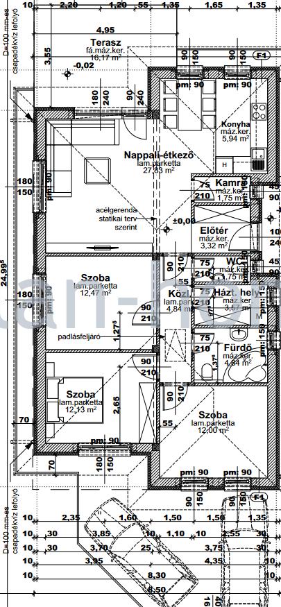 Őrbottyán aszfaltos rendezett csendes utcájában eladó egyszintes 95nm-es 4-szobás elrendezésű családi házak!