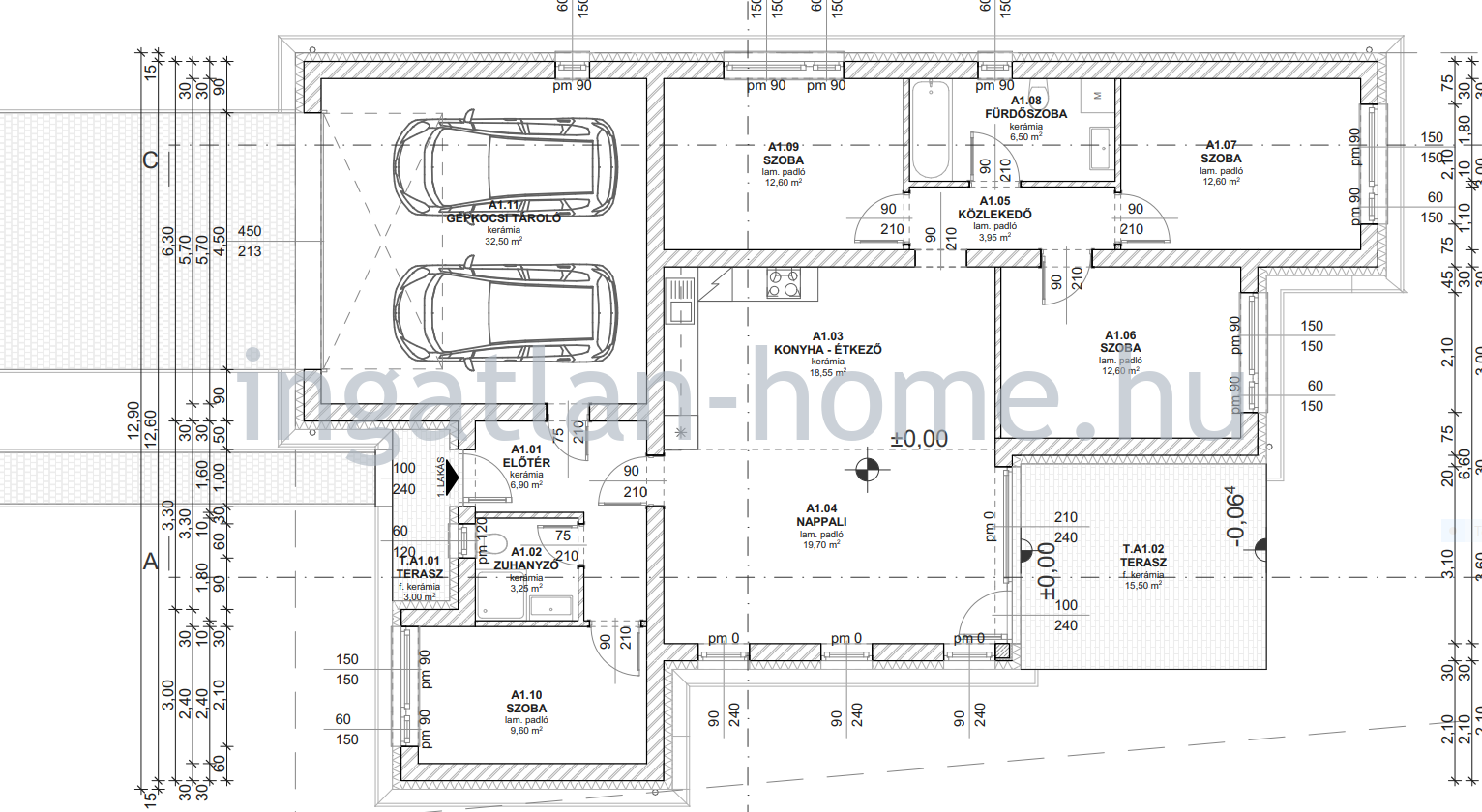 Őrbottyán aszfaltos rendezett utcájában eladó 134nm-es dupla garázsos családi ház!