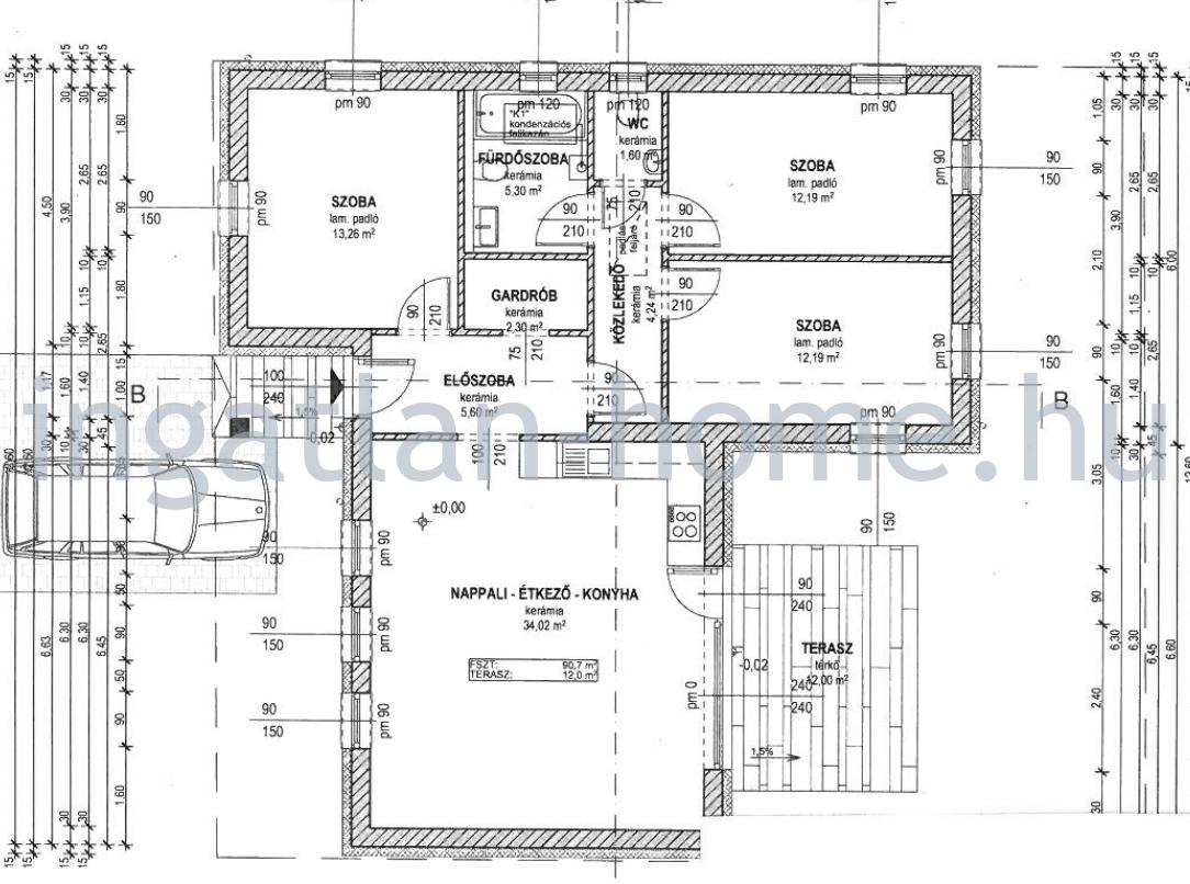 Vácrátót csendes utcájában eladó egyszintes 90nm-es önálló családi ház 786nm-es telken!